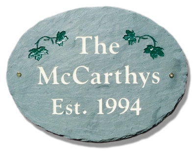 Stone Mill Ivy Oval Address Plaque