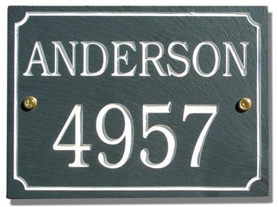 Stonemill 2 Line Rectangle Address Plaque