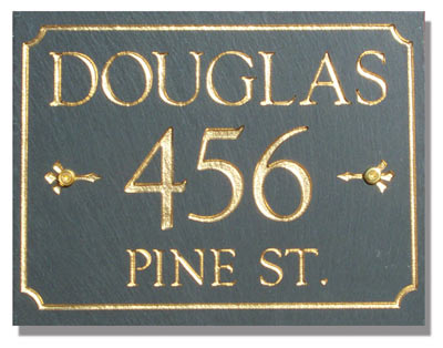 Stonemill 3 Line Rectangle Address Plaque