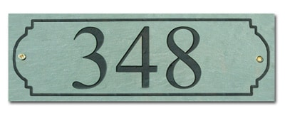 Stone Mill Horizontal Rectangle Address Plaque