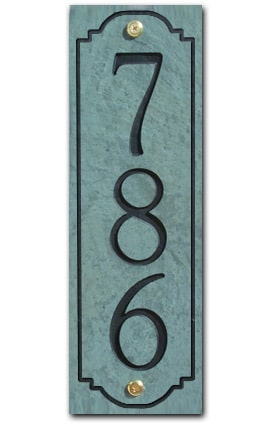 Stone Mill Vertical Address Plaque