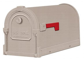 Special Lite Savannah Mailboxes Champagne