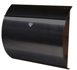 Helix Spira Wall Mount Mailbox Black