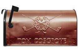 Still River Copper Mailbox Golf Crest