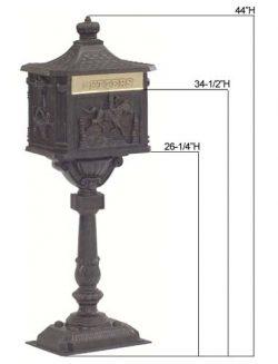 AMCO Victorian Pedestal Residential Mailbox Specs