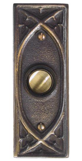 Waterglass Studios Gothic Brass Door Bell