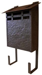 Waterglass Vertical Mailbox Hammered Copper
