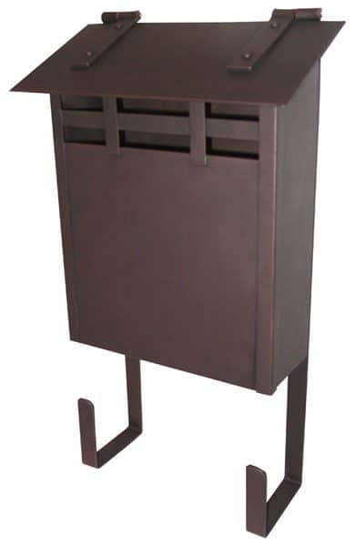 Waterglass Vertical Wall Mount Copper Mailbox