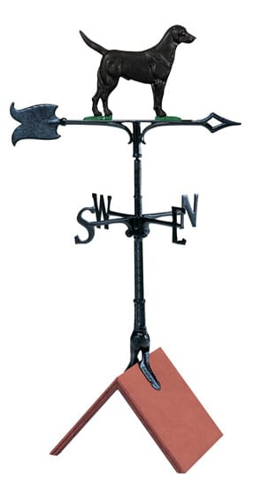 Whitehall 30 Black Lab Color Weathervane