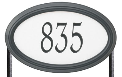 Whitehall Concord Oval Standard Size Safety 911 Reflective Oval Lawn Address Plaques
