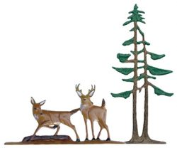 Whitehall Deer Pines Traditional Weathervane