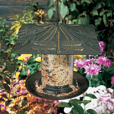 Whitehall Dragonfly Tube Bird Feeder