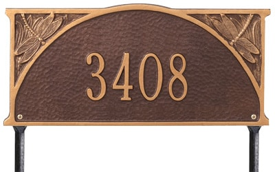 Whitehall Dragonfly Address Plaque One Line
