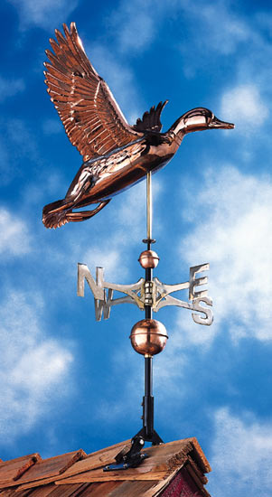 Whitehall Copper Duck Classic Weathervane