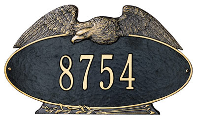 Whitehall Eagle Oval Address Plaque