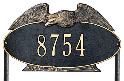 Whitehall Eagle Oval Lawn Marker Address Plaque