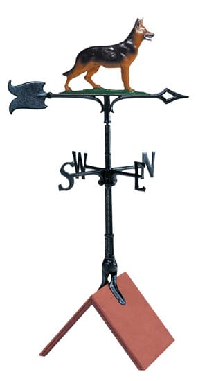 Whitehall 30 Inch German Shepherd Color Weathervane