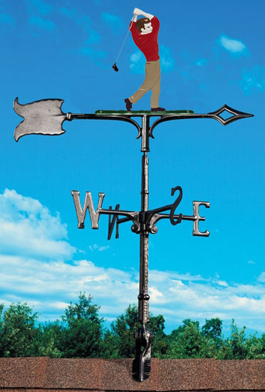 Whitehall 30 Inch Golfer Color Weathervane