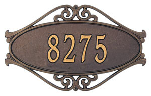 Whitehall Hackley Fretwork Address Plaque Product Image