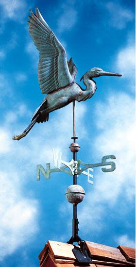 Whitehall Copper Heron Classic Weathervane Product Image