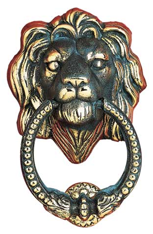 Whitehall Leo Solid Brass Door Knocker Product Image