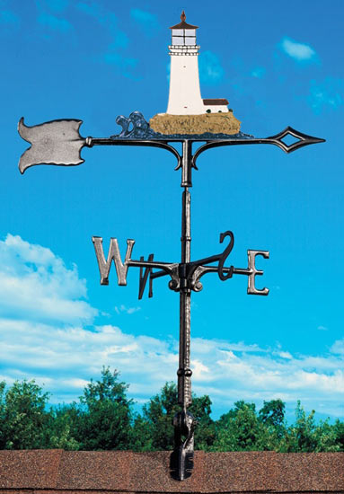 Whitehall 30 Inch Lighthouse Color Weathervane