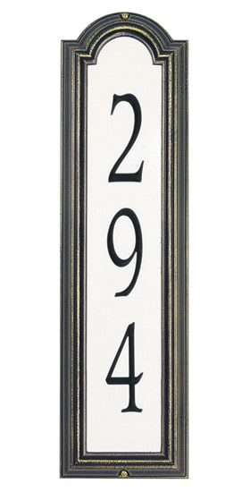 Whitehall Manchester Vertical Reflective Standard Address Plaque