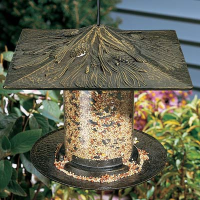 Whitehall Pinecone Tube Bird Feeder