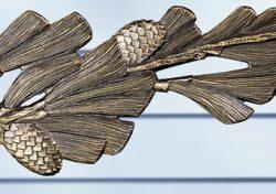 Whitehall Pinecone Nature Hook Close Up