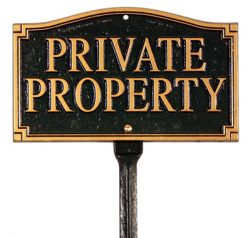 Whitehall Private Property Plaque Lawn Kit