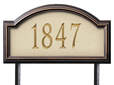 Whitehall Providence Rectangle Stone Lawn Address Plaque