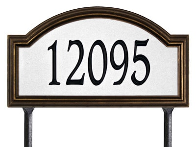 Whitehall Providence Arch Standard Size Safety 911 Reflective Arch Address Plaque for Lawn