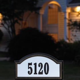 Whitehall Reflective Address Plaques Night View