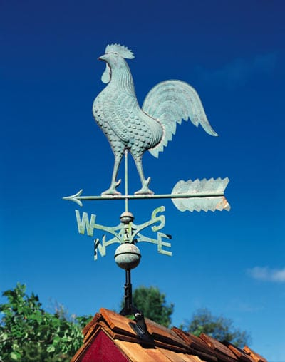 Whitehall Copper Rooster Classic Weathervane