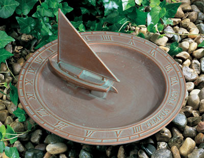 Whitehall Sailboat Sundial Birdbath