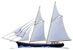 Whitehall Schooner Traditional Weathervane