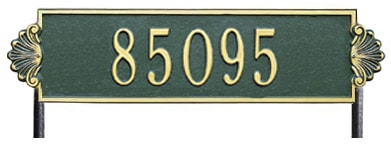 Whitehall Shell Horizontal Rectangle Lawn Address Plaque