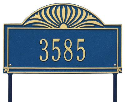 Whitehall Sunburst Address Plaque One Line