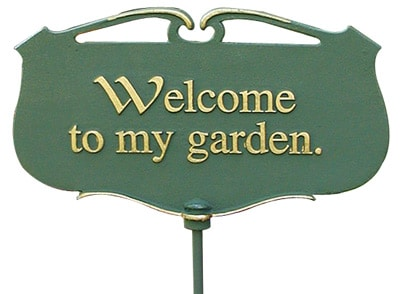 Whitehall Welcome To My Garden Poem Sign