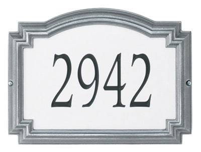 Whitehall Williamsburg Reflective Standard Address Plaque