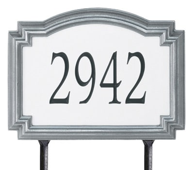 Whitehall Williamsburg Standard Size 911 Reflective Lawn Address Plaques Yard Signs