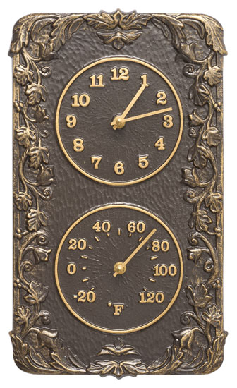 Whitehall Acanthus Clock And Thermometer