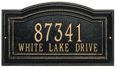 Whitehall Arbor Address Plaque Product Image