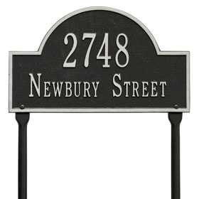 Whitehall Arch Marker Lawn Black Silver