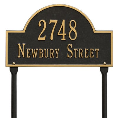 Whitehall Arch Marker Rectangle Lawn Address Plaque Product Image