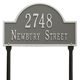 Whitehall Arch Marker Lawn Pewter Silver