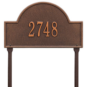 Arch Marker Plaque One Line Standard