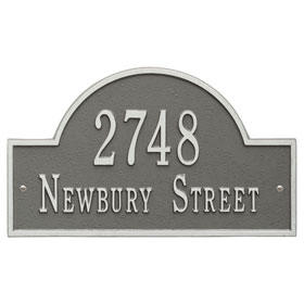 Whitehall Arch Marker Plaque Pewter Silver