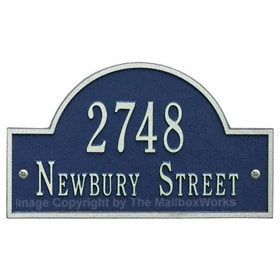 Whitehall Arch Marker Plaque Blue Silver