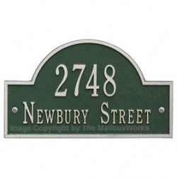 Whitehall Arch Marker Plaque Green Silver